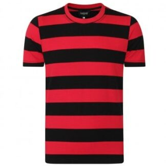 Jim Striped T-Shirt Red and Black