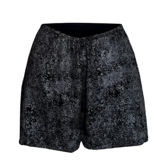 Short Wide Cleather Short Black